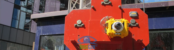 HoistCam Attached to Hook Block of Tower Crane