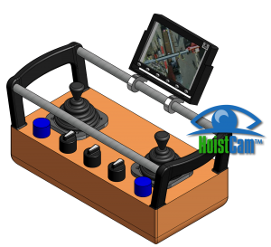 HoistCam HC120 5in Monitor Attached to Overhead Crane Belly Box