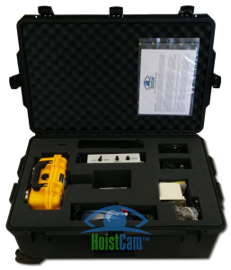 HoistCam in rugged transport case