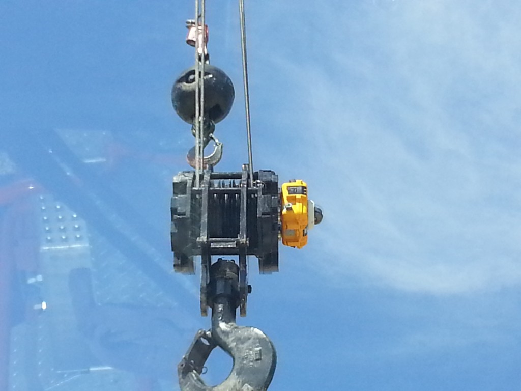 Armored HoistCam Attached to Hook Block on Telescopic Boom Crane
