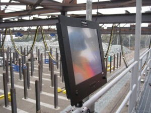 HoistCam Split Screen Monitor in Rail Handling Yard