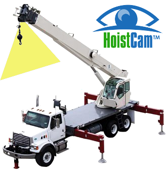 Truck Crane - Location of Wireless HoistCam Camera on Boom Tip