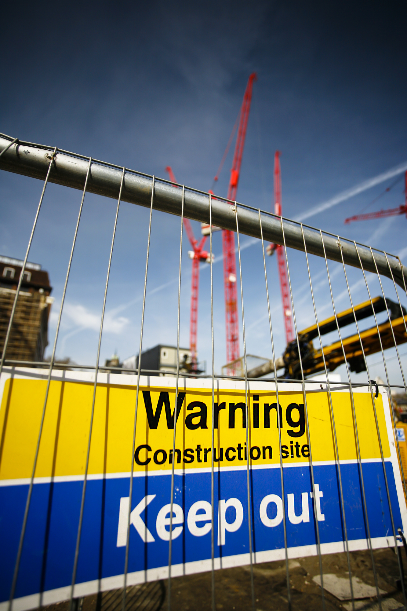 warning sign at construction site - Wireless Camera for