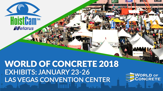 HoistCam at World of Concrete 2018 - Booth C4034