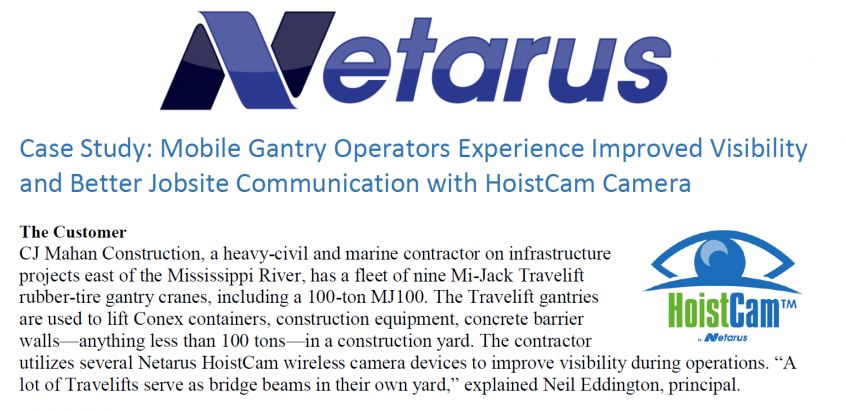 Two HoistCam Case Studies - Crane Operators Experience Significantly ...